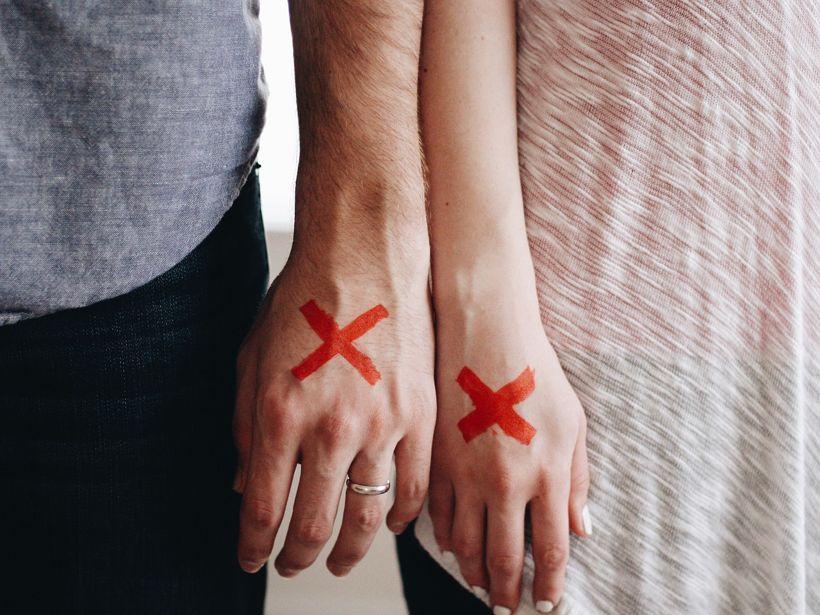 Pareja en fase de divorcio