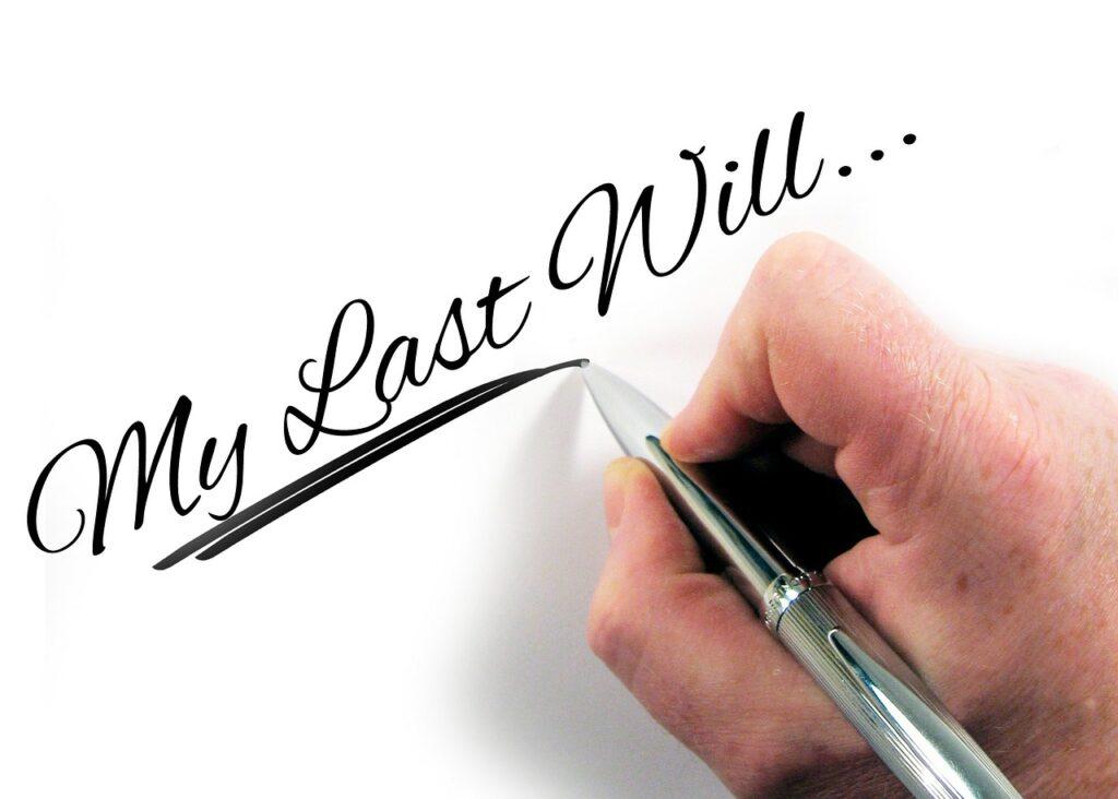 testamento y últimas voluntades